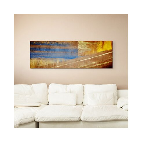 Enigma Panorama Abstrakt 937 Framed Graphic Print on Canvas