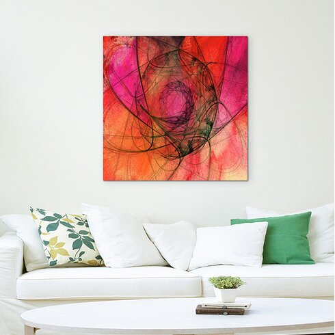Abstract 1157 Enigma Framed Graphic Print on Canvas