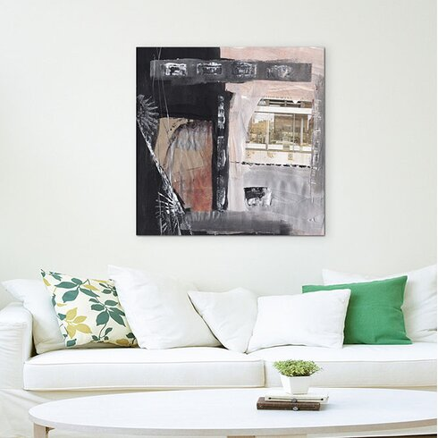 Abstract 598 Enigma Framed Graphic Print on Canvas