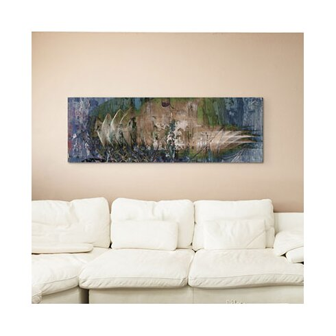 Enigma Panorama Abstrakt 1374 Framed Graphic Print on Canvas