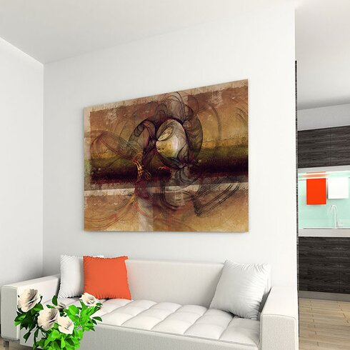 Abstract 186 Enigma Framed Graphic Print on Canvas