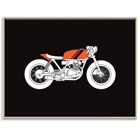 'Cafe Racer 2' by Ayarti Framed Graphic Art on Wrapped Canvas