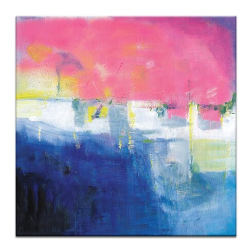 'Pink Sunset' by Brenda Meynell Art Print on Wrapped Canvas