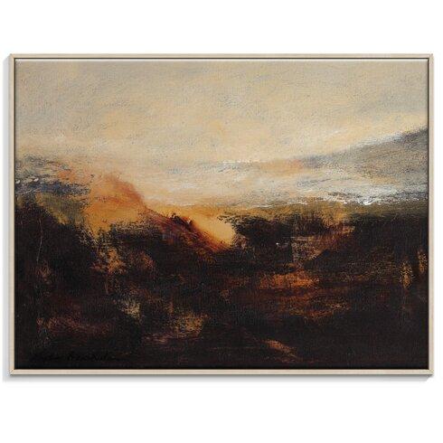 'Sienna Ridge' by Lydia Ben-Natan Framed Art Print on Wrapped Canvas