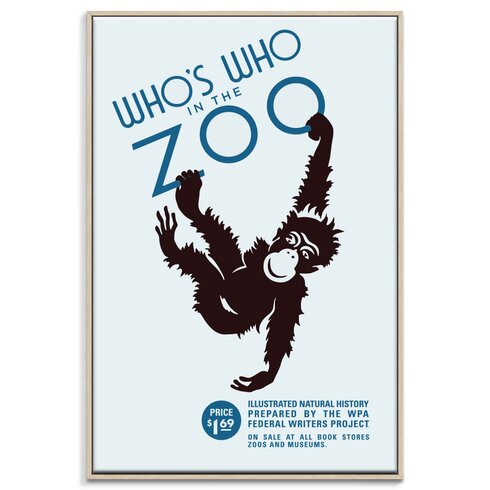 'Zoo' Framed Vintage Advertisement on Wrapped Canvas
