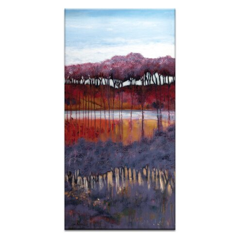'Blackberry Creek' by Lydia Ben-Natan Art Print Wrapped on Canvas