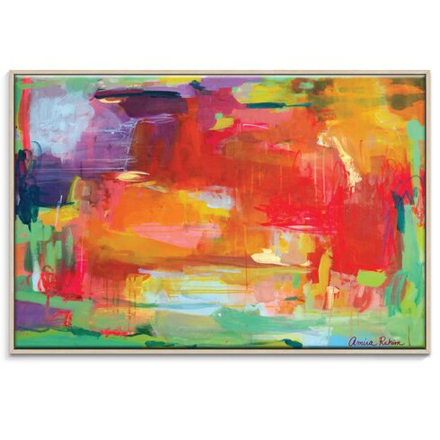 'Orange attack' by Amira Rahim Framed Art Print on Wrapped Canvas