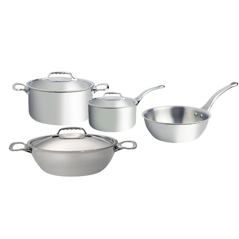 Affinity 4 Piece 5-Ply Stainless Steel Cookware Set