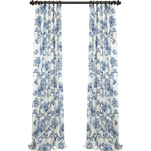 Darby Home Co Havana Nature Floral Blackout Thermal Pinch Pleat Single Curtain Panel Reviews