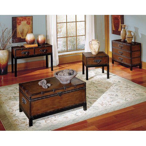 Alcott Hill Glenway Trunk Coffee Table TrunkReviewsWayfair