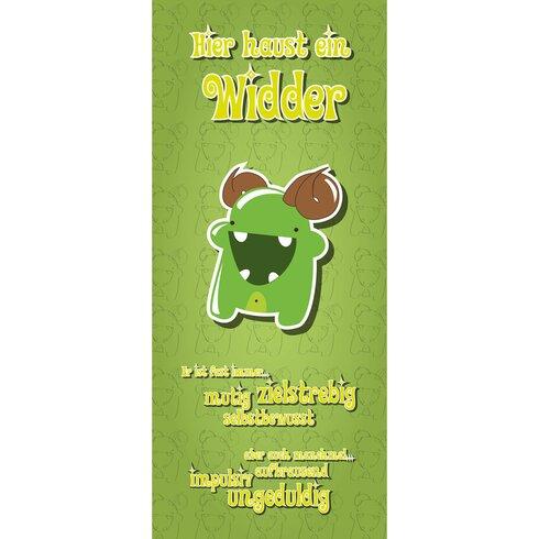 Kleine Monster Widder Door Sticker