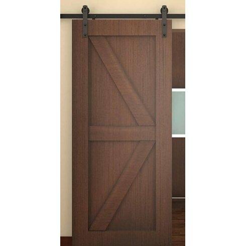 Belleze classic rustic sliding door track hardware for 1 4 inch sliding door track