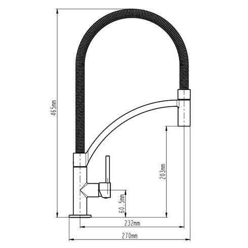 Aramis Kitchen Sink Mixer with Flexible Spray Spout