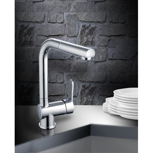 Single Handle Surface Monobloc Mixer Tap with Pull Out Spray
