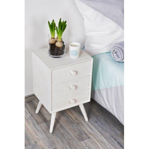 Preston 3 Drawer Bedside Table