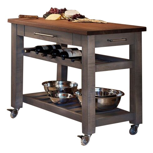 metro mobile kitchen island with walnut top - Mobile Kitchen Island