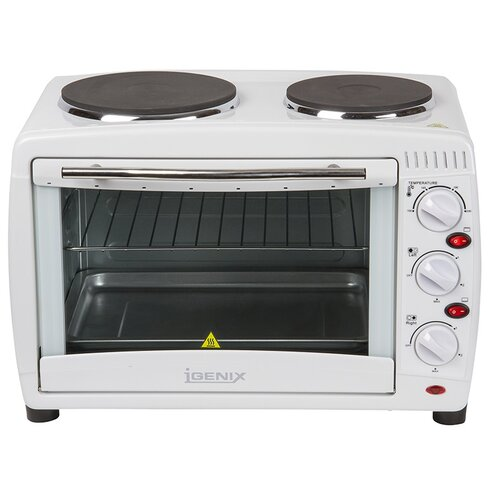 26L Countertop Microwave with Double Hotplates in White