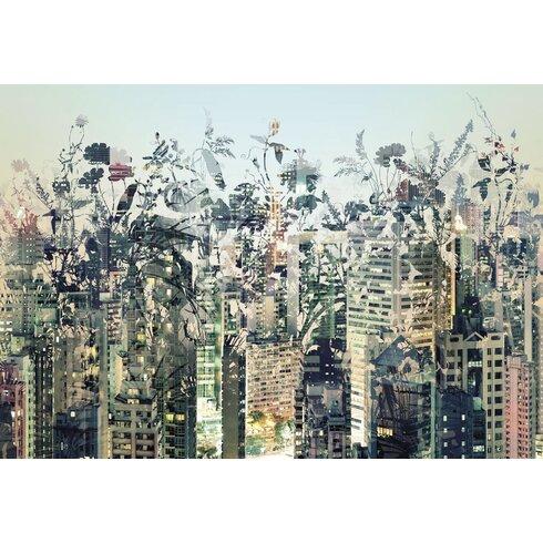 Urban Jungle 2.54m L x 368cm W Scenic Tile/Panel Wallpaper