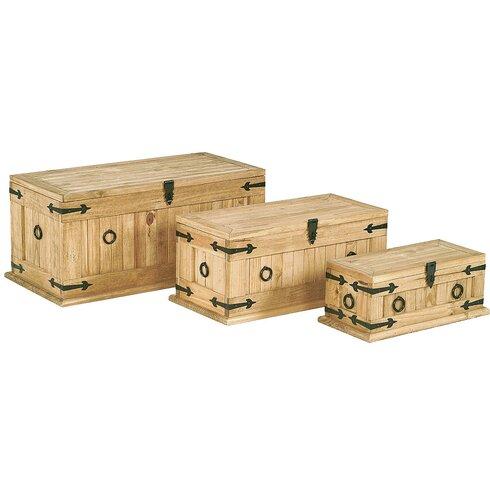 Rustic Corona 3 Piece Monterey Wooden Box Set