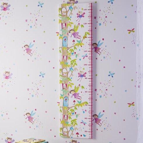 Imagine Fun Enchanted Fairies Printed Canvas Growth Chart