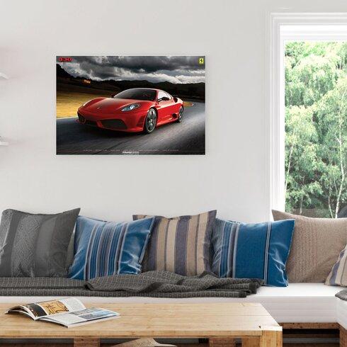 Ferrari F430 Graphic Print Decorative Plaque