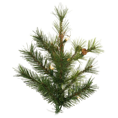 Vickerman mixed country pine slim 6 5 39 green artificial for Country living artificial christmas trees