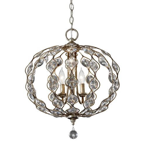 Leila 3 Light Crystal Pendant