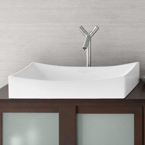 Status Rectangular Vessel Bathroom Sink