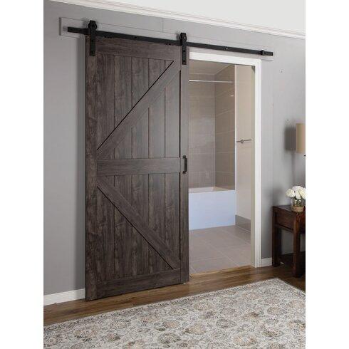 mdf engineered wood 1 panel interior barn door by erias home designs