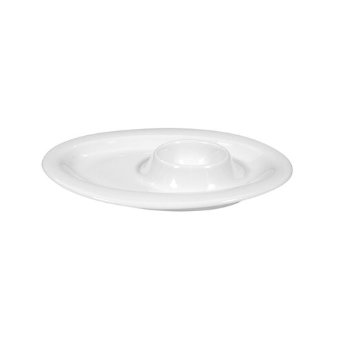 Top Life White Egg Cup with Tray