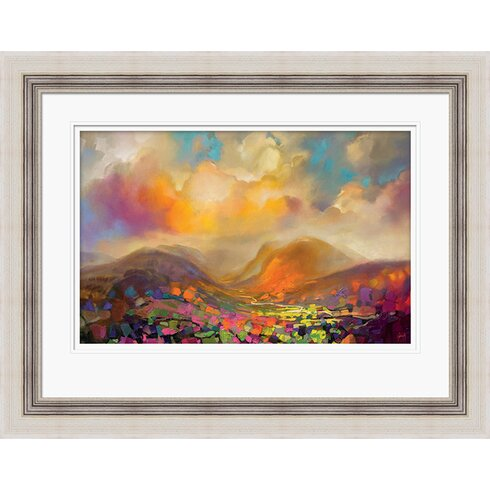 'Nevis Range Colour' by Scott Naismith Framed Painting Print