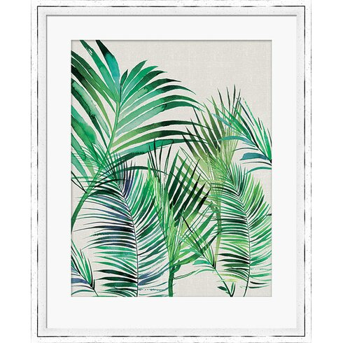 'Palm Leaves' by Summer Thornton Framed Painting Print