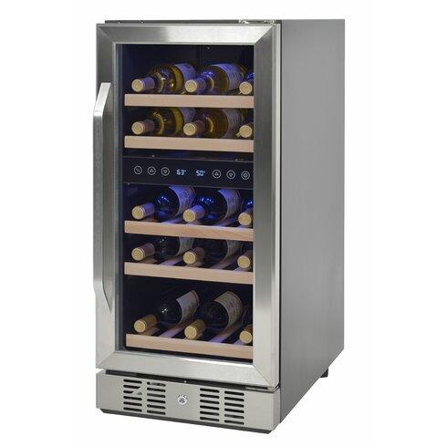 newair 29 bottle dual zone built in wine cooler reviews wayfair. Black Bedroom Furniture Sets. Home Design Ideas