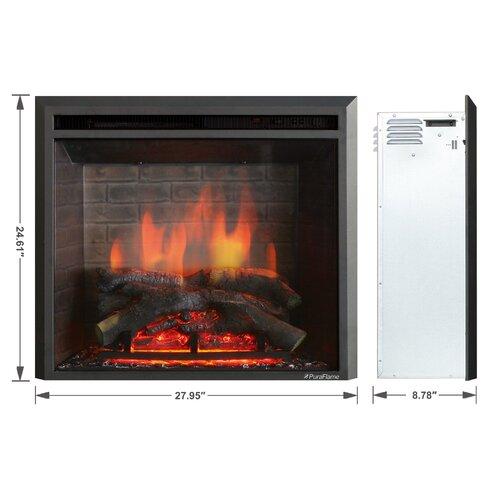 Puraflame 33 Black 750 1500w Western Wall Mount Electric Fireplace Insert Reviews Wayfair