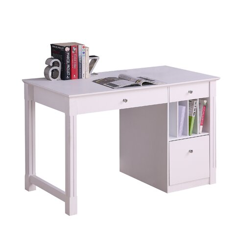 Beachcrest Home Clinton Computer Desk With Keyboard Tray