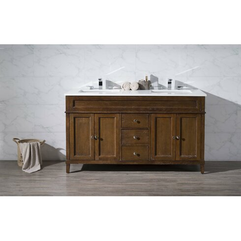 Dcor Design Oakmont 59 Double Sink Bathroom Vanity Set Reviews