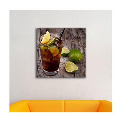 Original Cuba Libre Cocktail Photographic Print on Canvas
