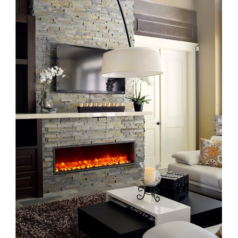 dynasty 55 built in led wall mount electric fireplace