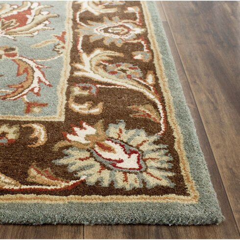 Charlton Home Cranmore Hand-Tufted Blue/Brown Area Rug ...