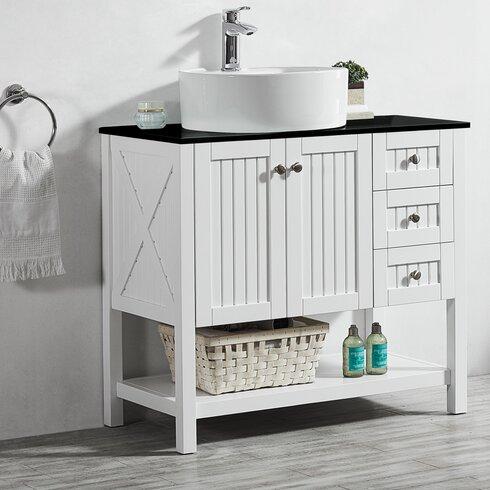 Vinnova modena 36 single bathroom vanity set reviews for Kitchen set modena