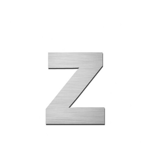"Hausnummer selbstklebend ""z"" aus Edelstahl V4A"