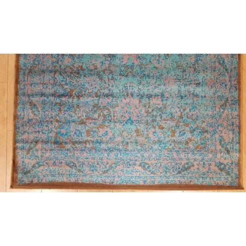 Agra Antika Teal/Taupe Area Rug