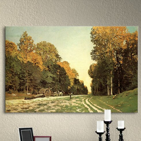 ''Lumber Wagon'' by Claude Monet Painting Print on Wrapped Canvas