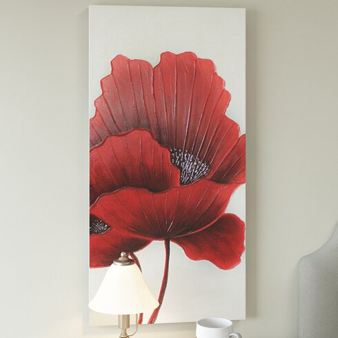 Poppies Red Poppies Art Print on Canvas