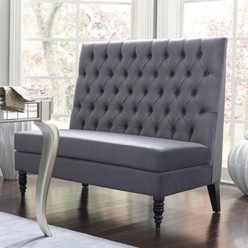 House Of Hampton Belle 49 5 Tufted Settee Bedroom Bench Reviews Wayfair