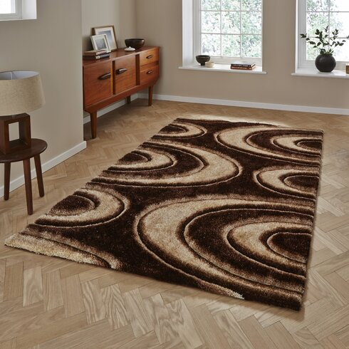 Noble House Hand-Tufted Brown Area Rug