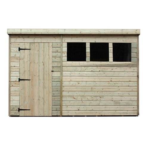 10 x 5 Wooden Lean-To Shed