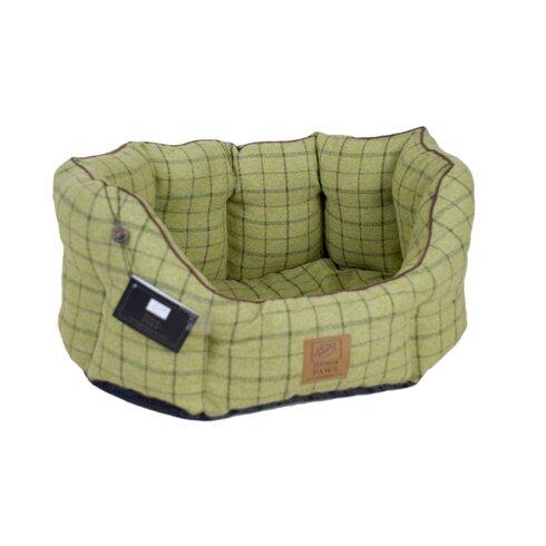 Tweed Oval Pet Bed in Green