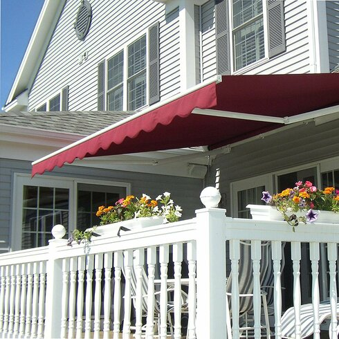Aleko Retractable Motorized Patio 16ft W X 10ft D Awning