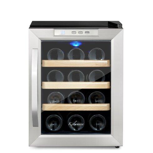 12 Bottle Single Zone Freestanding Wine Cooler. Kalamera 12 Bottle Single Zone Freestanding Wine Cooler   Reviews